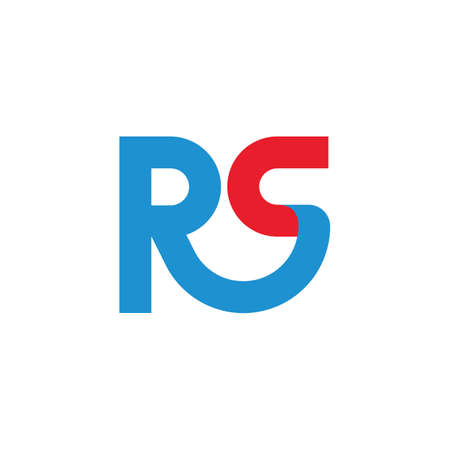 Rs letter icon business vector design  template