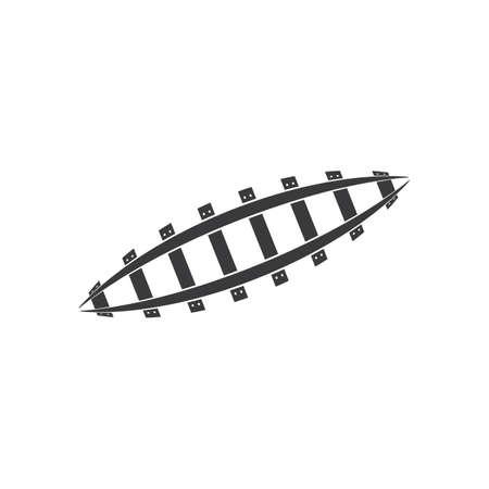 rail way track vector illustration design template