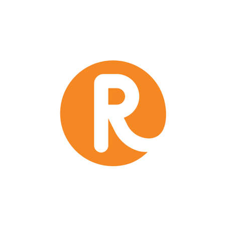 R letter icon business vector design  template 向量圖像