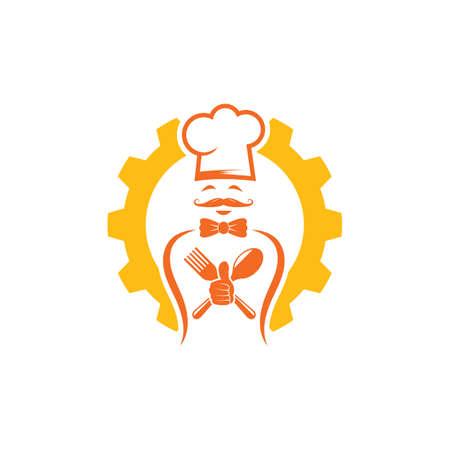 hat chef gear  vector illustration design