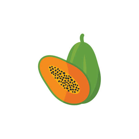 papaya icon vector illustration design template