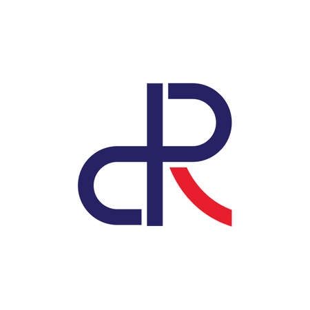 DR letter  icon illustration vector design
