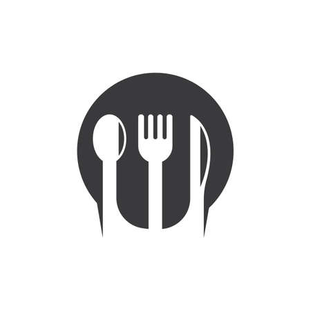 fork,spoon and knife  icon vector illustration template 向量圖像