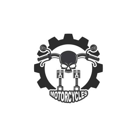 motorcycle icon vector illlustration design template web 向量圖像