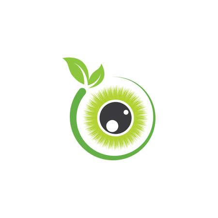 nature optical eye icon  vector Template illustration design