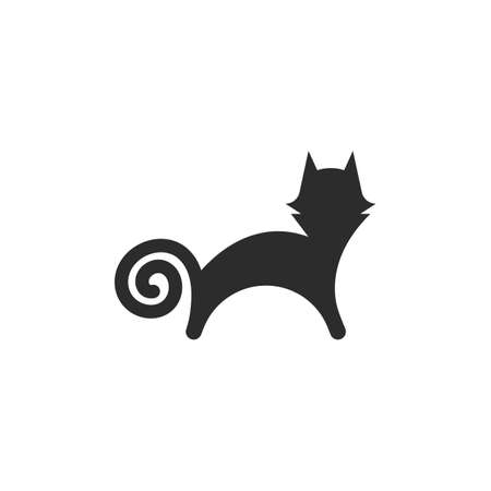 abstract cat vector icon illustration design template 일러스트