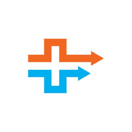 cross medical arrow  icon  vector illustration design template