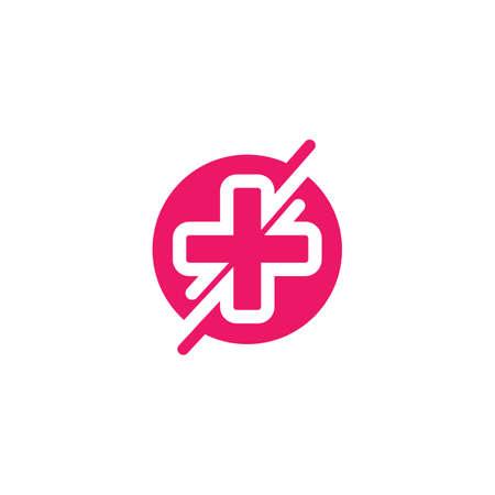 cross medical  icon  vector illustration design template