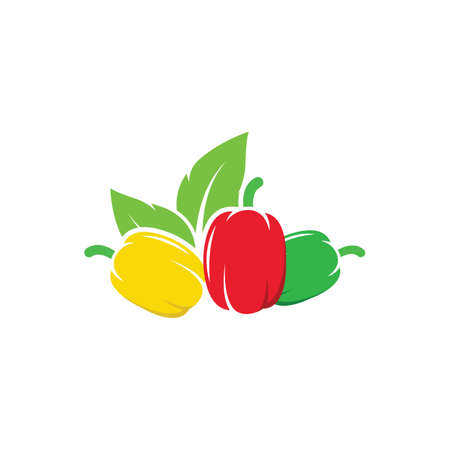 bell peppers icon vector illustration design template web