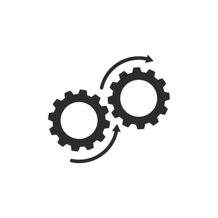 rotation Gear  Template vector icon illustration design