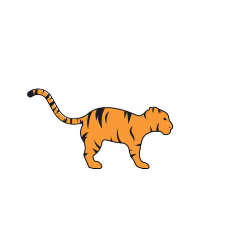 tiger baby  icon vector illustration design template