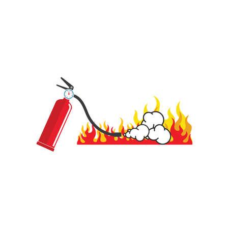 fire extinguisher vector icon illustration design template web 일러스트