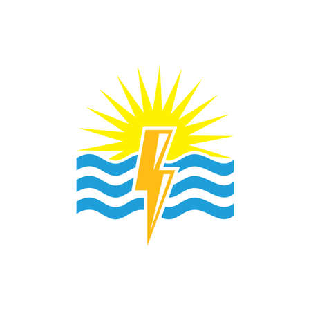 water power icon   illustration vector design template
