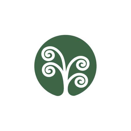 unique tree roots vector icon illustration design template 일러스트