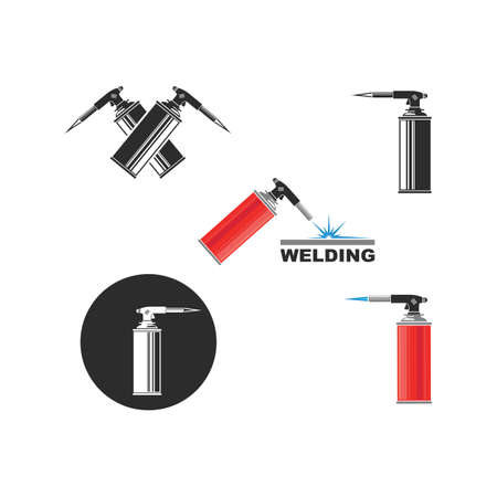 gas torch bottle icon vector illustration design template web