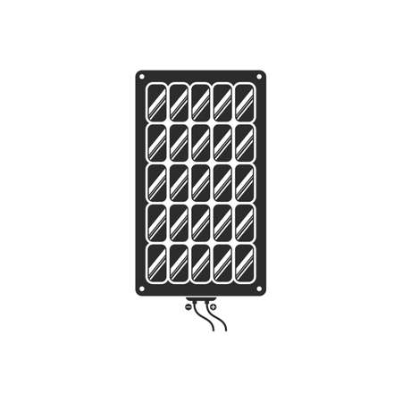 solar panel vector icon of natural energy design