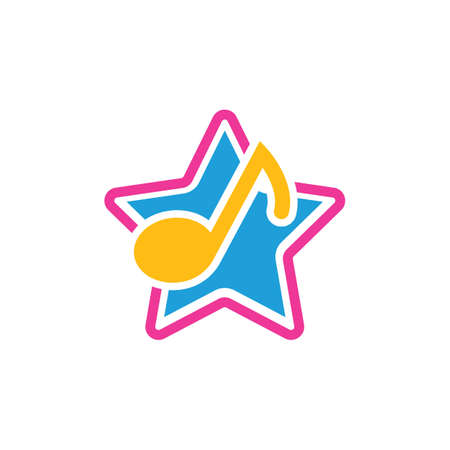 star music note vector illustration icon design 일러스트