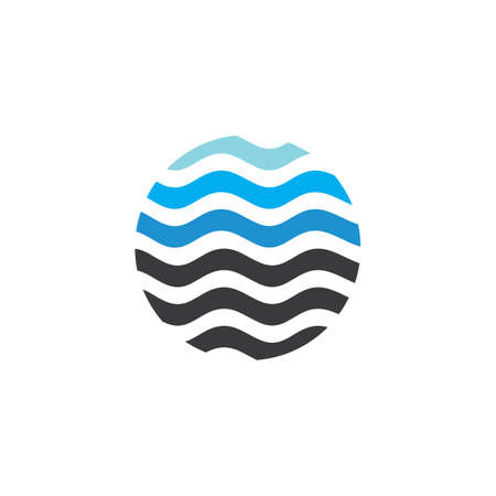 Water Wave symbol and icon Template vector design