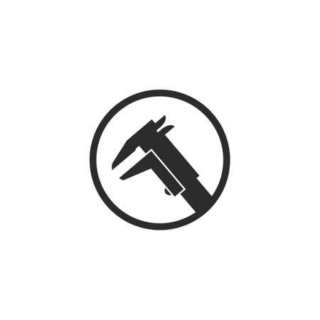 caliper icon vector illustration design template 스톡 콘텐츠 - 165492566