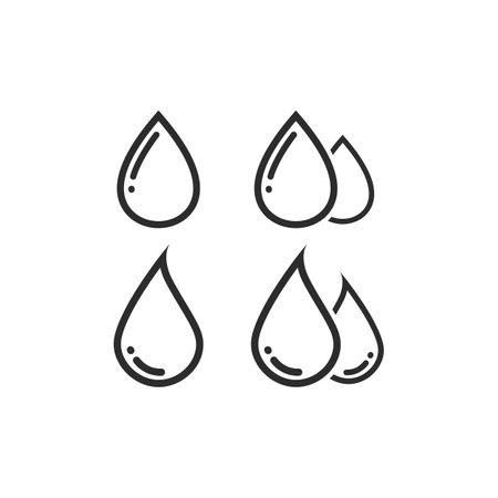 water drop line  Template vector illustration design