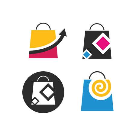 shopping bag icon vector illustration design template