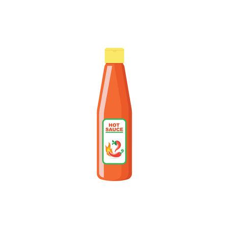 bottle chilli sauce icon vector illustration design template web 일러스트