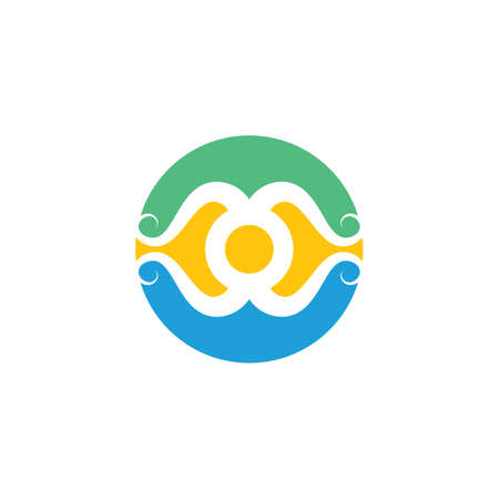 abstract octopus icon vector illustration design template