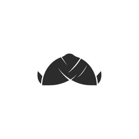 blangkon hat,traditional culture javanese cap of yogyakarta indonesia design vector