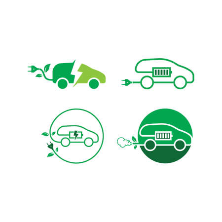 electric car icon vector illustration design template