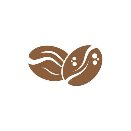 Coffee Beans Template vector icon design