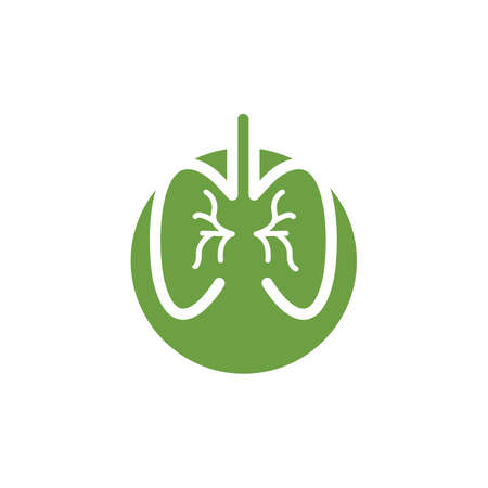 human lungs icon vector illustration design template