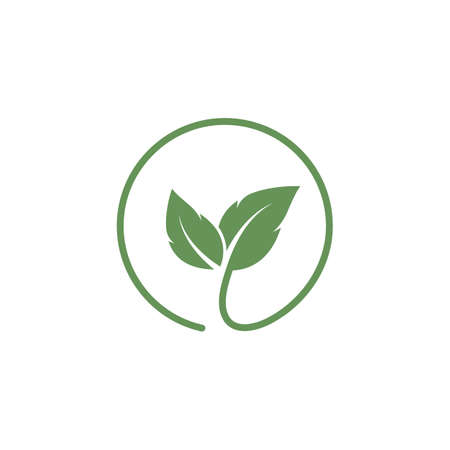 organic leaves icon vector design template web