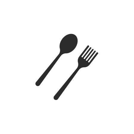 fork,spoon  icon vector illustration template 矢量图像