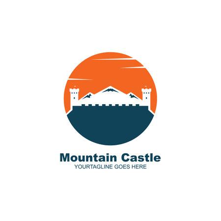 castle mountain  icon vector illustration design template