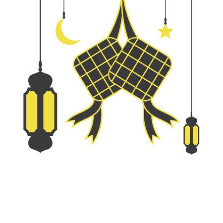 eid mubarak icon vector illustration design template web