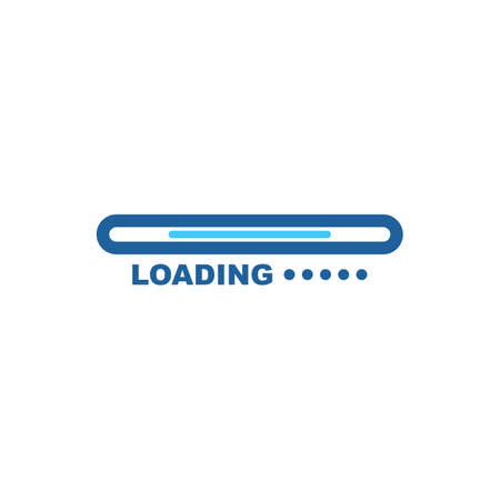 loading indicator icon vector illustration design template