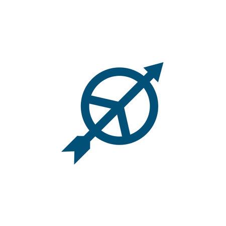 arrow peace icon vector illustration design template web 矢量图像