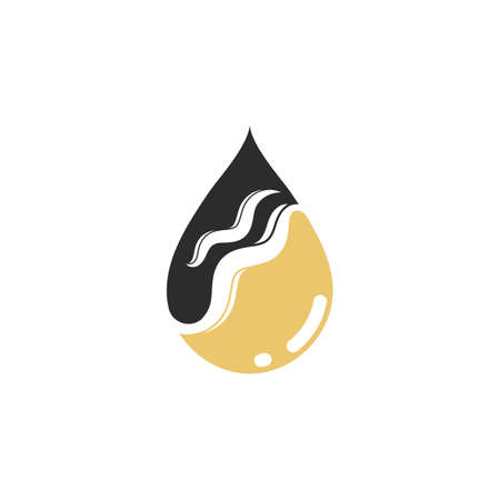 hair nutrition oil drop icon vector illustration design template