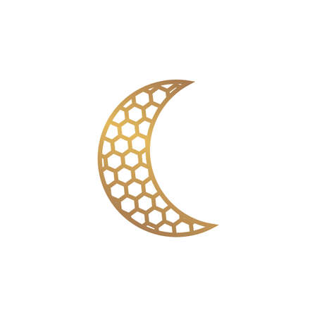 moon vector icon illustration design template