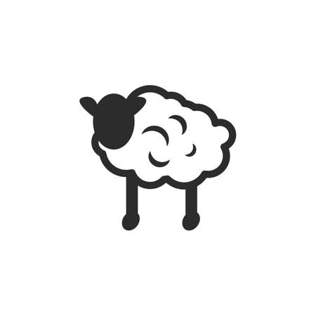 sheep icon vector illustration design template web