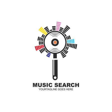 music search icon vector illustration concept design template