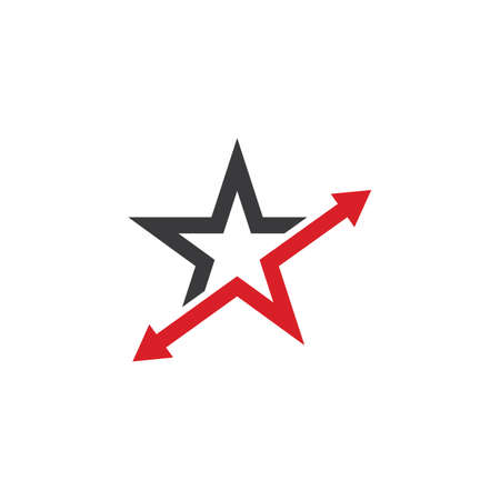 faster star arrow vector  icon illustration design template 矢量图像