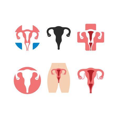 female reproduction icon vector illustration design template