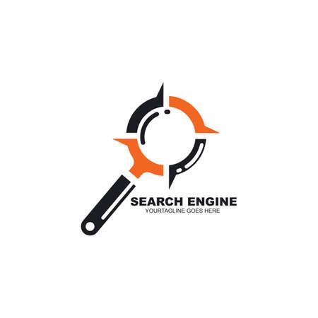 search engine icon vector illustration design template web 矢量图像