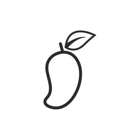 mango fruit line vector illustration design  icon 矢量图像