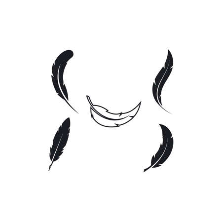 feather ink  icon illustration vector template design Vettoriali