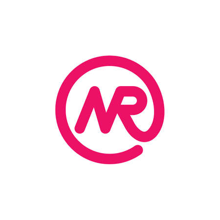 NR letter  icon vector illustration design template web