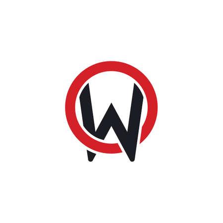aw  letter  icon vector illustration design template web Vettoriali