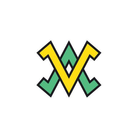 Av Letter  Business Vector icon illustration design template web