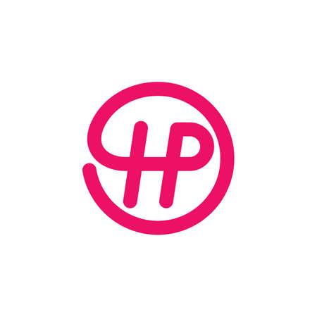 hp letter icon vector illustration design template